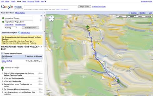 Fertig geplante Route