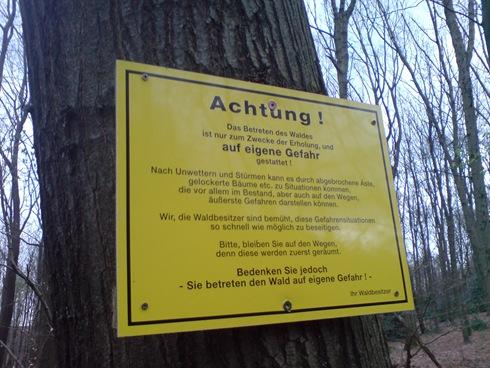 Mit dem MTB durch den Wald auf eigene Gefahr