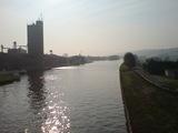 Der Mittellandkanal am frühen Morgen